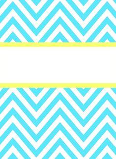 Cute, printable binder covers
