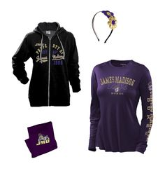 Ladies, stop by the JMU Bookstore on your way to see the Dukes take on the Monarchs this Saturday!  Grab a long sleeve shirt and jacket, then top it off with a warm fleece blanket.  That way you can wear your purple proudly, but stay warm enough for all four quarters of football!