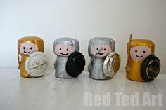 knights crafts for kids, cork knight, ridder, corks, cork crafts, thing, bobbin craft
