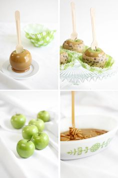 Chocolate Chip Cookie Dough Caramel Apples from @Heather Creswell Creswell Baird