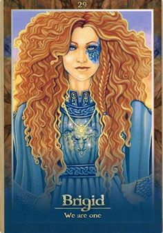 Brigid - We are One from the 'Oracle of the dragon fae' cards