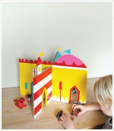 duct tape, interlock castl, homemade toys, castles, cardboard castl, kid