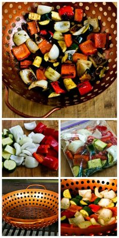 Recipe for World's Easiest Grilled Vegetables (How to Cook Vegetables on the Grill). You won't believe how a couple of simple tricks turn grilled vegetables into a wow-your-guests side dish! [from Kalyn's Kitchen] #Grilling #Vegetarian #LowCarb #GlutenFree