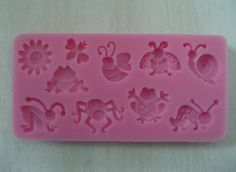 Free Shipping Sun and cute little insects silicone 3D cake fondant decoration mold tools-in Cake Molds from Home & Garden on Aliexpress.com