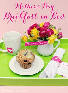 Mother's Day breakfast in bed printables on iheartnaptime.com! Such a sweet idea!
