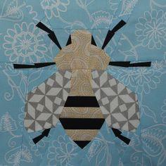 Spring Honey Bee Quilt Block - Free PDF Pattern