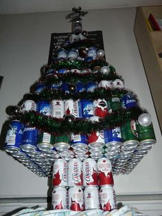 College students Christmas tree