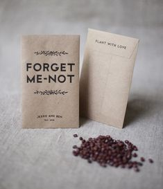 Wedding favour seed packets
