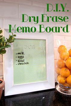 DIY Personalized Dry Erase Memo Boards