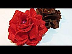Tutorial: Rosas de fieltro. Felt roses.