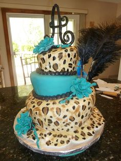 Wow your guests with this tiered leopard cake. #Jerseylicious #FinaleParty #Inspiration