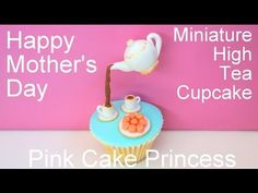 Mother's Day Gravity Defying Miniature Tea Set & Macarons Cupcakes - How to by Pink Cake Princess