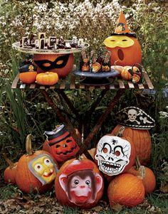 pumpkins and masks