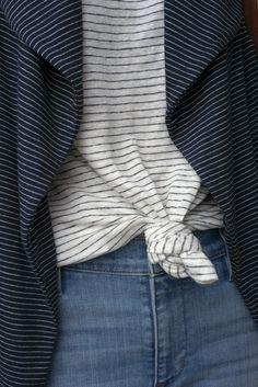 {Stripes and denim.}