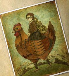 Fine Art Print  Traveling Companion by Amalia K by TheWishForest, $20.00