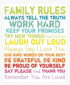 Family Rules ...