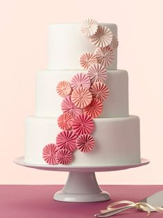 Ombre pinwheel cake love