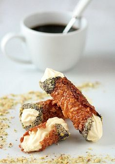 Nougatine Cannoli with Vanilla Bean Mousse by tartelette  the recipe for the mousse alone is worth it!