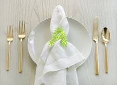 Punched Leaf Napkin Rings