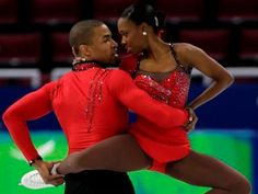 First black figure skating pair in 2010 Winter Olympics, Vanessa James and Yannick Bonheur
