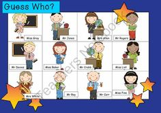 WHO AM I? #13 TEACHERS Oral language speaking game QUESTIONING describing from Miss Simplicity's Store on TeachersNotebook.com -  (2 pages)  - aka Guess Who?  This is a simple oral language game you can play in your Jr primary or elementary class.