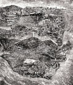 "via http://architizer.tumblr.com/post/16769251298/diorama-map-by-sohei-nishino-thousands-of: ""Diorama Map by Sohei Nishino: thousands of photographs collaged into a personal mental map of Rio de Janeiro."""