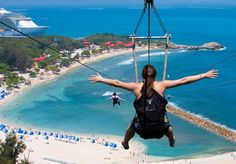Dragon's Breath Zip Line - Labadee Haiti  Been there, done that!  Would do it again in a HEARTBEAT!!!