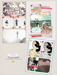 digital freebie, 3 templates in the same set. Everyday template made by maybemej