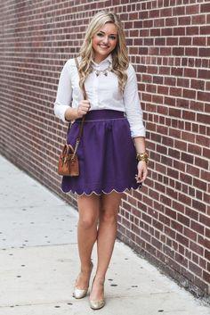 Scalloped Skirt + a Few (more) Favorites