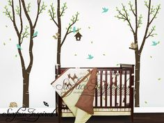 Nursery Wall Decals Baby Birch Trees Vinyl Wall by SurfaceInspired, $99.00