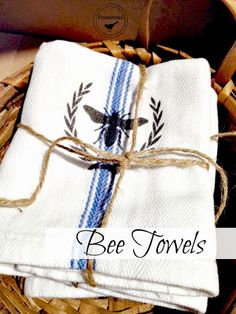 Cotton Bee Towels new to the shop at Homeroad www.homeroad.net