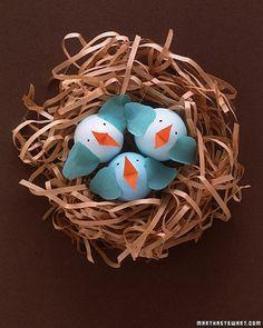 Easter / Tutorial / Egg birds in a nest