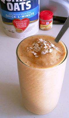 Pumpkin Oatmeal Smoothie Quick and easy to make:Healthy, Great source of fiber and protein, no refined sugar, a good breakfast, snack, or dessert