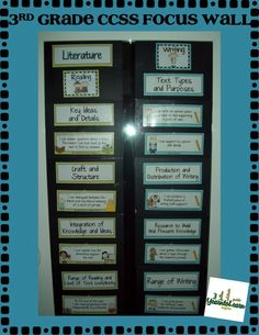 Monday Made It Common Core Focus Wall | I want to do this in my classroom for 5th Grade