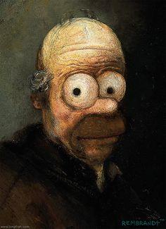 Rembrandt's Homer Simpson