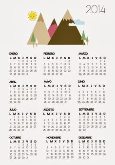 Year Calendar 2014 Printable One Page/page/2 | Search Results ...