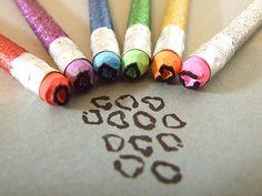 Pencil Eraser Cheeta spot applicator