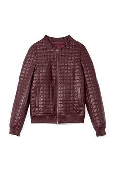 Jonathan Simkhai Quilted Leather Bomber Jacket