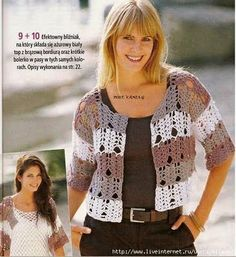 Multicolor Bolero free crochet graph pattern