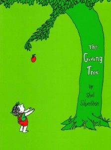 Gift ideas: 'The Giving Tree' by Shel Silverstein with a small tree sprout to plant and another to share with someone else