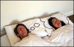 I am soooooooo getting me this, or making it one! lol classical pillow case him and her dreaming cloud