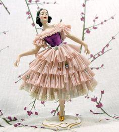 Wilhelm Rittirsch Dresden Art Made in Germany German Girl Woman Figurine WR