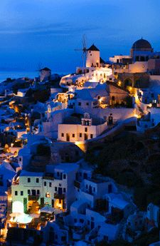 Night in Santorini, Greece