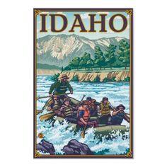 White Water Rafting - Idaho Posters by LanternPress