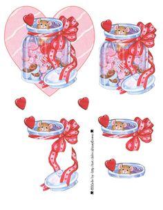 3D sheet - decoupage - valentine