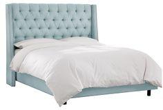 Sophia Wingback Bed, Linen Pool on OneKingsLane.com