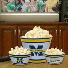 Michigan Wolverines Melamine Bowl Set