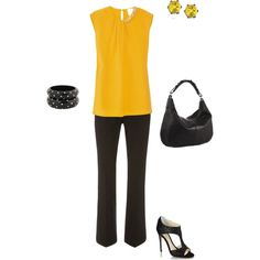 from work to evening look, created by karley-kincaid on Polyvore