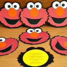 Elmo birthday invitations.
