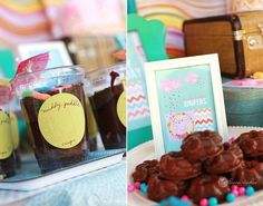 """GV brand marshmallow cookies """"Puddle Jumpers"""", dirt cups """"Muddy Puddles"""""""
